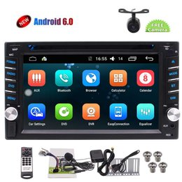 light dvd Canada - Android6.0 Marshmallow Double DIN Car Stereo in Dash 6.2'' Autoradio Bluetooth Car DVD Player Colorful Light Automotive Car Video Audio GPS