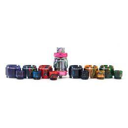 Atomizer Pro Tank Kits UK - Colorful Resin Tube Kit Caps Capacity Tube Drip Tip For Vaporizer FreeMax Mesh Pro Tank Glass Atomizer High Quality Visual Ability DHL Free