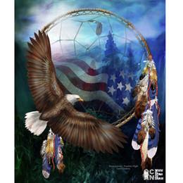 $enCountryForm.capitalKeyWord NZ - mosaic 3d diamond embroidery eagle and flags animals diamonds painting rhinestones pattern stickers drill diy needlework C425
