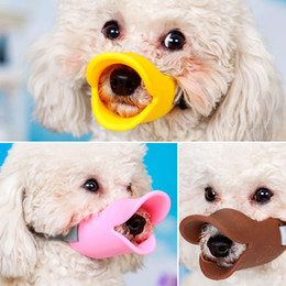 $enCountryForm.capitalKeyWord Australia - Dog Muzzle Silicone Cute Duck Mouth Mask Muzzle Bark Bite Stop Small Dog Anti-bite Masks For Dog Products Pets Accessories