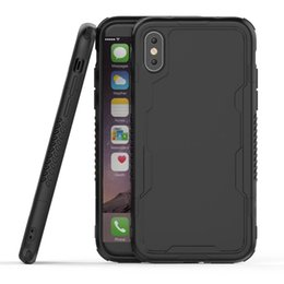 Wholesale Hybrid Space Back Hollow Transparent Case Ultra Thin TPU PC Anti Slip Frame Shockproof Protection For iPhone X s Plus Opp Bag