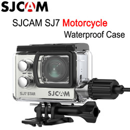 Rechargeable Shockproof Camera Australia - Original SJCAM Motorcycle Waterproof Case for Original SJCAM SJ7 Star Action Sports Camera for SJ7 Star Charger Case