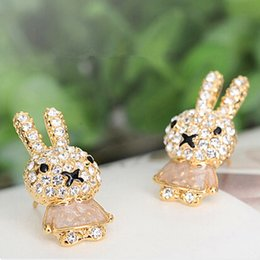 $enCountryForm.capitalKeyWord NZ - Korean Small Ornaments Fashion Atmosphere And Exquisite Lovely Rabbit Ear Nail Popular Earring Mixed TJ40 erd jewelry christmas C18110801