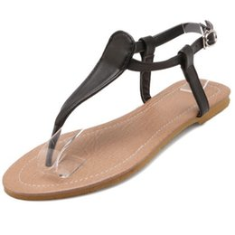$enCountryForm.capitalKeyWord Canada - SJJH 2018 Soft Leather Material Flip Flops Comfortable Flat Sandals Casual Dressy Shoes for Fashion Woman with Large Size Available A439