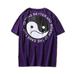 Chinese  Mens Hip Hop T Shirt Chinese Funny Bagua T-Shirts Casual Tops Tees 2018 Summer Harajuku Streetwear Tshirt Taiji Urban Clothing manufacturers