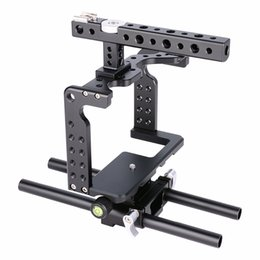 dslr camera cage rig 2019 - wholesale C7 Aluminum Alloy Dslr Camera Video Cage Small Rig with Top Handle Grip For Panasonic Lumix gh5 cheap dslr cam