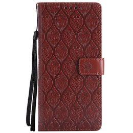 $enCountryForm.capitalKeyWord UK - 3D Rattan Wallet Leather Case For Huawei Mate 10 Lite Pro 8 Honor 9 6X P9 Lite P10 Mini Enjoy 7 NOVA Card ID Slot Flip Embossed Flower Cover