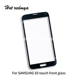 Samsung S5 Mini Touch Screen Australia - 100pcs lot Outer Glass For Samsung Galaxy S5 G900 S5 Mini Front Glass Touch Screen Panel Digitizer Replacement Repair Phone Parts Free DHL