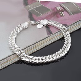 Sterling Silver Figaro Bracelet NZ - 2018 New Design 8MM 10MM 925 Sterling silver Figaro chain bracelet Fashion Men's Jewelry Top quality free shipping