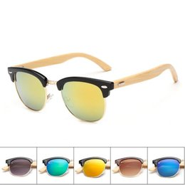 pc protectors NZ - Newest Women Bamboo Foot Fashion Sunglasses Summer Beach Trave Eye Protector Sun Glasses Resin Lenses Dazzle Colour Eyeglasses Free Shipping