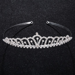 headpieces crystals tiaras NZ - Crystal Rhinestones Tiaras Bridal Crown Hair Accessories Tiara Headpiece Prom Party Headwear Princess Pageant Prom Rim for Hair JCH084