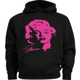 $enCountryForm.capitalKeyWord UK - Neon Pink Marilyn Monroe decal Sweatshirt Men's Size Hoodie