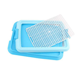 plastic fencing 2019 - Pet Puppy Indoor Potty Dog Toilet Training Pad Resin Practical Pee Pad Tray Portable Training Potty Doggie Toilet Fence