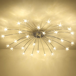 Discount star ceiling light fixture 2018 star ceiling light fashion ceiling lights led lamp iron galss indoor lighting all stars led g4 bedroom living room hotel light fixture star ceiling light fixture for sale mozeypictures Image collections