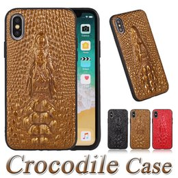 red crocodile iphone case 2019 - Luxury 3D Crocodile Head Leather Case For iPhone X 8 7 6 6s plus High Quality Back Cover PU Cases Free Shipping DHL