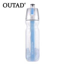 $enCountryForm.capitalKeyWord Australia - OUTAD 500ml Sports Double-deck Sports Drink Spray Water Bottle Cold Insulation Outdoor Bike Bicycle Cycling Hiking Sports