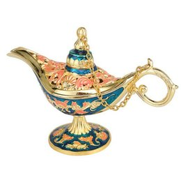 Chinese  Antique Style Fairy Tale Aladdin Magic Lamps Tea Pot Genie Lamp Vintage Retro Toys For Children Home Decoration Gifts manufacturers