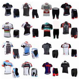 ce7b41d48 CUBE BORA team Cycling Short Sleeves jersey shorts sets New Style men summer  classic lightweight short set Q42603 orange blue cube cycling jersey on sale