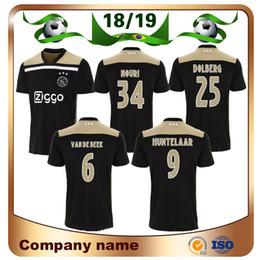 d701082d4 18 19 Jersey de fútbol Ajax de manga corta 2019 Ajax Away negro 34   NOURI  Camiseta de fútbol HUNTELAAR KLAASSEN DOLBERG Uniforme de fútbol Size S-4XL