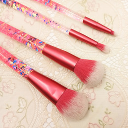 Whosale Stylish Beauty Personalized 4pcs Cosmetic makeup Brushes Maquillaje for Artists Sales makeup-kit dhl free shipping+gift
