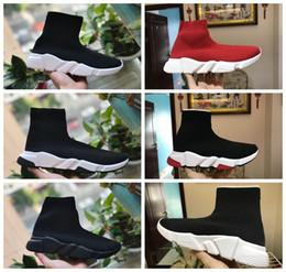 Sapatos de meia de luxo Sapato Casual Speed Trainer de Alta Qualidade Sneakers Speed Trainer Meia Corredores de Corrida preto Sapatos de homens e mulheres Sapato De Luxo