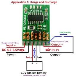 Freeshipping NUEVA 5 V 2.1A Descarga de Carga boost Power Module 3.7 V 4.2 V li-ion 18650 batería LED en venta