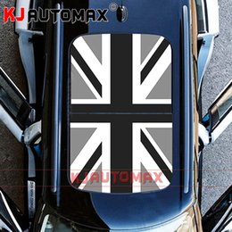 Discount mini cooper stickers decals - For Mini Cooper Roof Decal Perforated Vinyl Sticker Sunroof Grey Jack R55 R56 R60 R61 F54 F55 F56 Countryman Accessories
