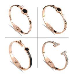 0129e7214eae Brazaletes del brazalete del amante de oro rosa