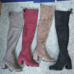 China Fashion Party Women Designer Brand Over the Knee Boots Thigh High Autumn Winter Boots Shoe Casual Women Luxury Shoes suppliers
