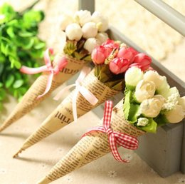 $enCountryForm.capitalKeyWord Canada - Artificial Flower Props Bouquet for Home Decoration Valentine Gift Simulation Flower Photography Props Handmade Newspaper Silk Flowers