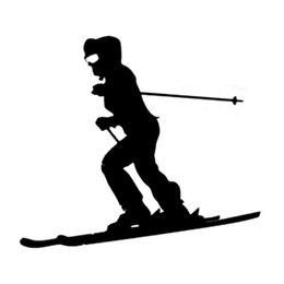reflective sports car stickers Canada - passionated youth styling skiing sports decal car sticker ca-017