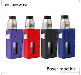 $enCountryForm.capitalKeyWord UK - Boxer Mod Kit New Product 4 Colors 18650 Battery High Quality Mech Mods E Cigarette with Adjustable 510 Pin DHL Free