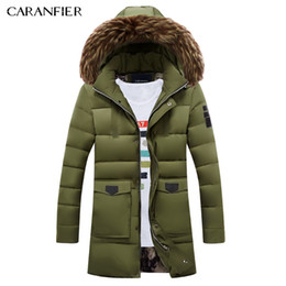 Hood Parka Men Australia - CARANFIER NEW Winter Long Parka Men Jacket Coat Outerwear Fashion Hood Padded Quilted Warm Male Jackets Fur collar Hooded Casual C18111201