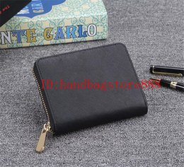Small black leather coin purSe online shopping - 2019 AAA MINI new Genuine leather wallet high quality MICHAEL KALLY wallets famous brand designer luxury clutch wallets women small purse