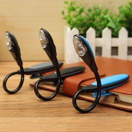 $enCountryForm.capitalKeyWord NZ - Mini LED Book Light Clip-On Flexible Bright Lamp Light Book Reading Lamp For Travel Bedroom Reader Gifts
