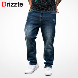 Plus Size Camouflage Jeans NZ - Drizzte Camouflage Jeans Men Plus Size 40 42 44 46 48 Fashion Stretch Denim Large Big and Tall Pants Trousers Jeans