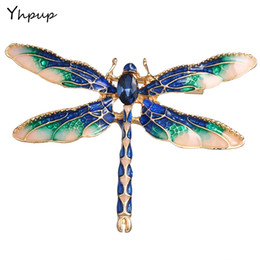 Yhpup Elegant Colorful Enamel Dragonfly Brooches Pin For Women Fashion  Charm Exquisite Wedding Party Jewelry Accessories Gifts a3ea41297ffc