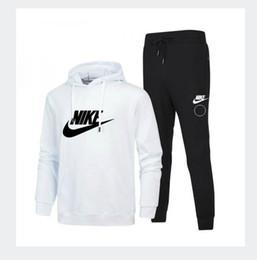 online store 18278 93e02 Survêtement pour homme NIKE 2018 costume de sport hommes blancs pas cher  hommes sweat-shirt