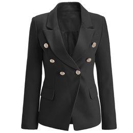 b2ebc201cc05 BNWT Top Quality Original Design donna Branded Ladies Giacca a doppio petto  Slim fibbie in metallo Blazer Outwear Coat Bianco   Nero   Rosa