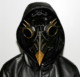 Chinese  Steampunk Plague Doctor Mask Faux Leather Birds Beak Masks Halloween Art Cosplay Carnaval Props manufacturers