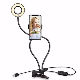 Chinese  Photo Studio Selfie LED Ring Light With Clip Flexible Phone Holder For Youtube Live Stream Makeup Camera Lamp For IPhone Android manufacturers