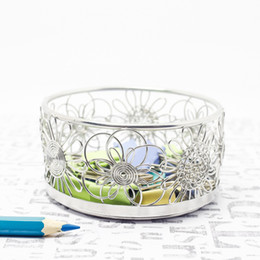 China FREE SHIPPING F6 FLOWERS PEN PENCIL CUP BOX HOLDER STAINLESS HAND-MADE ART CRAFTS WEDDING BIRTHDAY HOME GARDEN OFFICE GIFT PRESENT CUTE suppliers