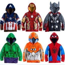 Spiderman hoodie 4t online shopping - Boys Hoodies Avengers Marvel Superhero Iron Man Thor Hulk Captain America Spiderman Sweatshirt for Boys Kid Cartoon Jacket T Y18102507