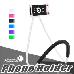 Wholesale Lazy Neck Holder Universal Cell Phone Holder Stand Lazy Bracket DIY Free Degree Rotating Mounts with Multiple Function