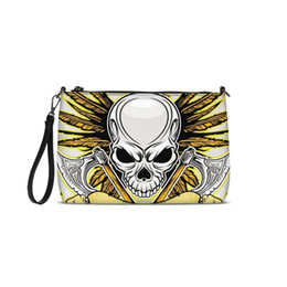 $enCountryForm.capitalKeyWord UK - Cool Golden Skulls Printed Girls Women Shoulder Bags New Messenger Bags 2018 Fashion PU Leather Luxury Handbags Crossbody Purse