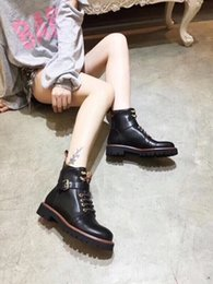 Wholesale 2018 new arrival women s fashion genuine leather short boots girls casual autumn winter soft printing boots black brown lady size L30