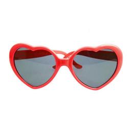Heart Sun Glasses Wholesale UK - Summer Women Heart Shape Sunglass Plastic Frame UV400 Mirror Unisex Sun Glass Lovely Polarized Sunglasses Eyewear Festival