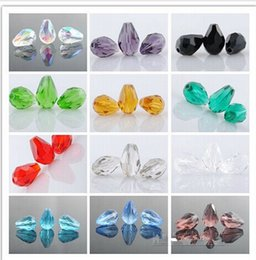 $enCountryForm.capitalKeyWord Canada - Wholesale 500pcs Lot Crystal Glass Faceted Beads Teardrop For Jewelry Making 11x8mm DIY Loose Beads Drop Shipping