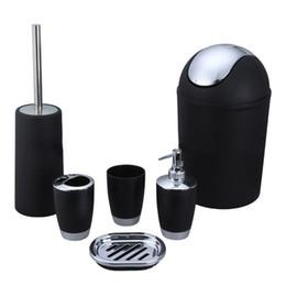 inexpensive bathroom accessories. 6 Pcs Set Home Useful Plastic Bath Accessory Bathroom Dispenser  Toothbrush Holder Tumbler Cup Soap Dish Trash Toilet Brush Inexpensive Bathroom Discount Accessories Sets 2018 Ceramic