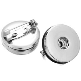 $enCountryForm.capitalKeyWord UK - 10pcs lot Snap Buttons Brooches Jewelry Silver Pins Brooch Fit DIY 18mm Snap Button Jewelry For Women Weddings Brooches Gift